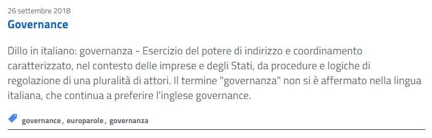 europarole governance