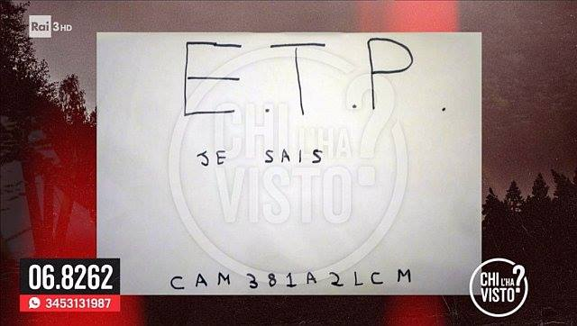 e.t.p messaggio alessio vinci cosa significa etp -1