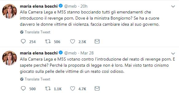 revenge porn legge boschi emendamento - 2