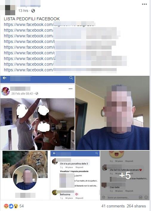 ronde pedofili facebook - 1