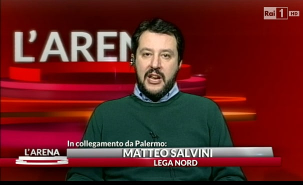 salvini in tv