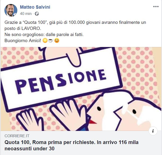 salvini quota 100