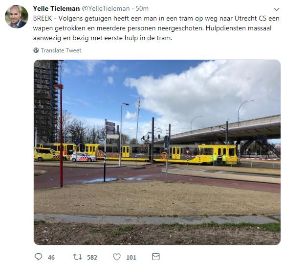 Utrecht, sparatoria in centro: numerosi feriti. Operazioni antiterrorismo in corso
