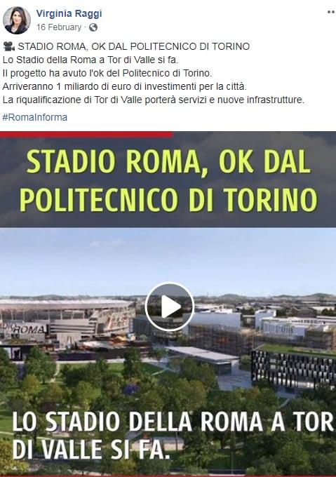 stadio della roma m5s de vito variante urbanistica danno erariale - 2