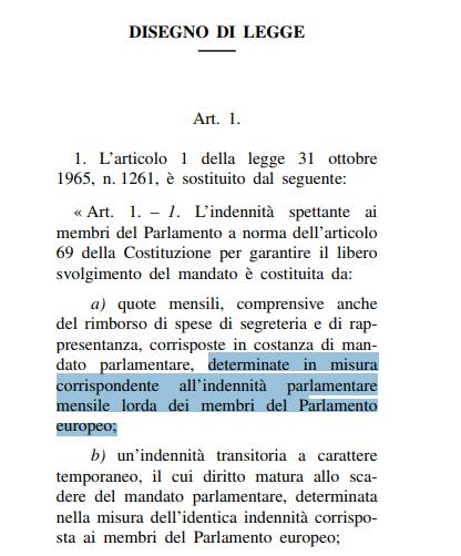 zanda proposta stipendio parlamentari - 2