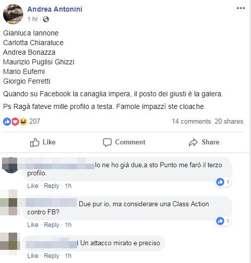 casa pound iannone bannato facebook - 2