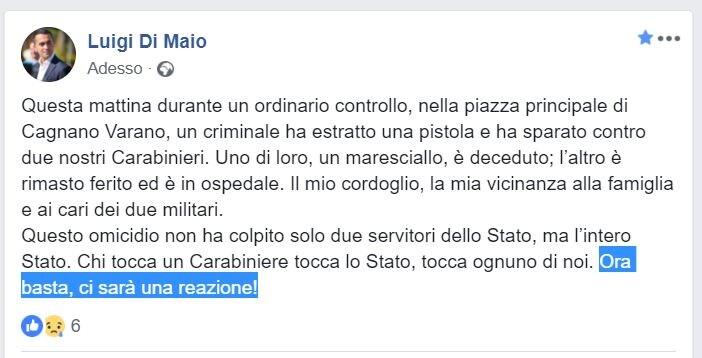 di maio carabiniere cagnano varano
