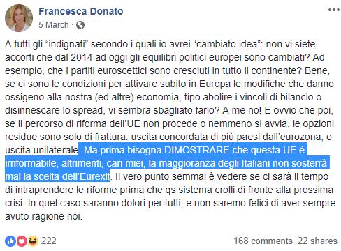 francesca donato europee - 4