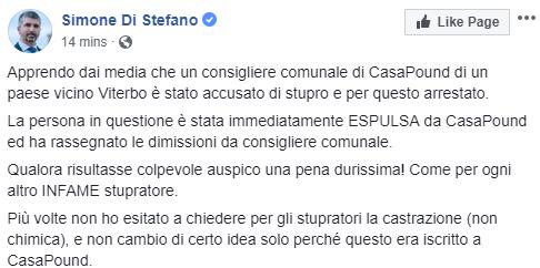 francesco chiricozzi casapound viterbo violenza sessuale - 4