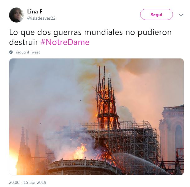 incendio notre dame notizie 1
