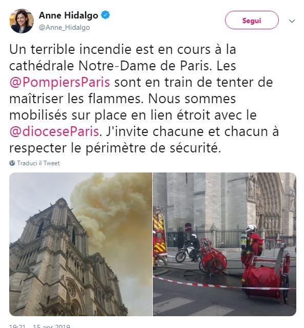 incendio notre dame notizie
