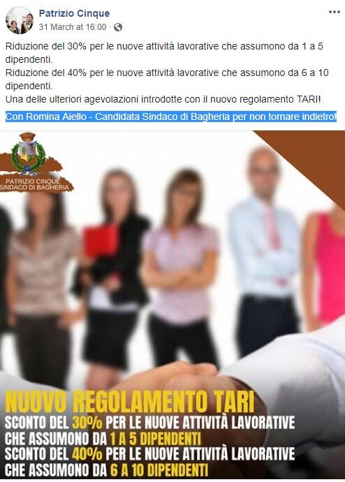 patrizio cinque elezioni bagheria sindaco - 1