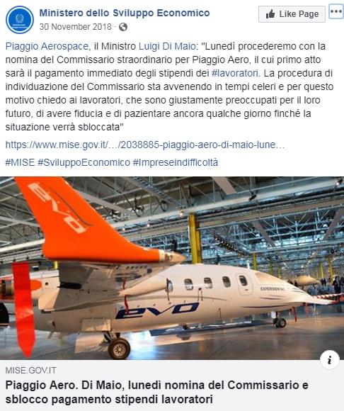 piaggio aerospace di maio cassa integrazione - 1