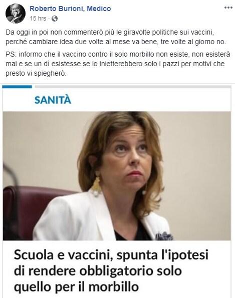 vaccino morbillo obbligatorio sileri grillo - 1