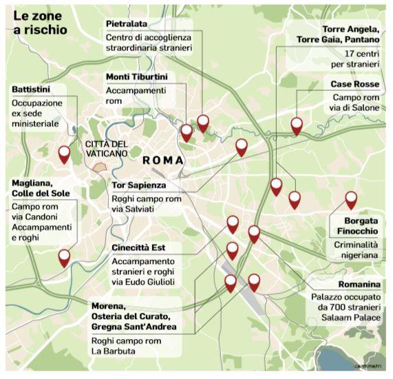 zone a rischio roma