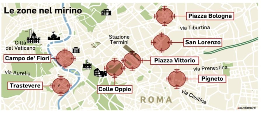 zone rosse di roma