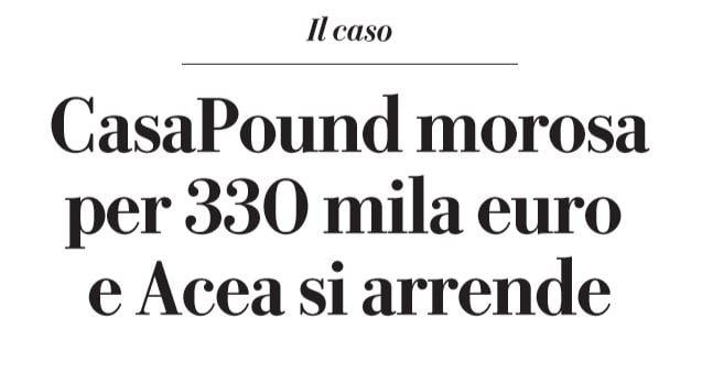 casapound via napoleone III 300mila euro
