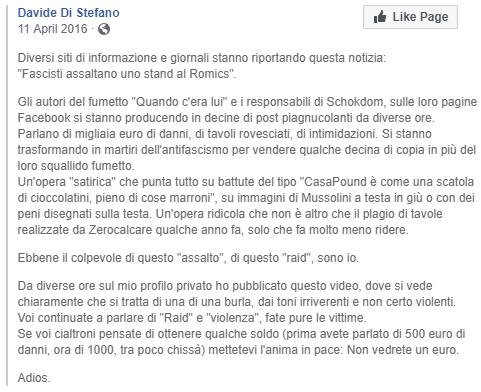di stefano raid romics casapound - 1