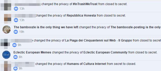 facebook gruppi segreti indonesian report crossover - 4