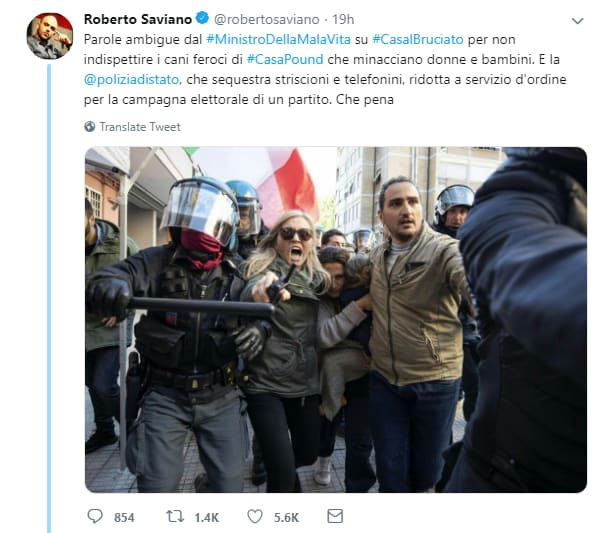 polizia di stato twitter saviano casalbruciato -2