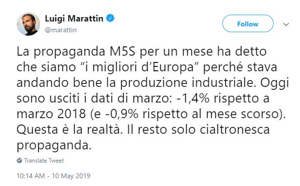 produzione industriale marzo 2019 calo - 1