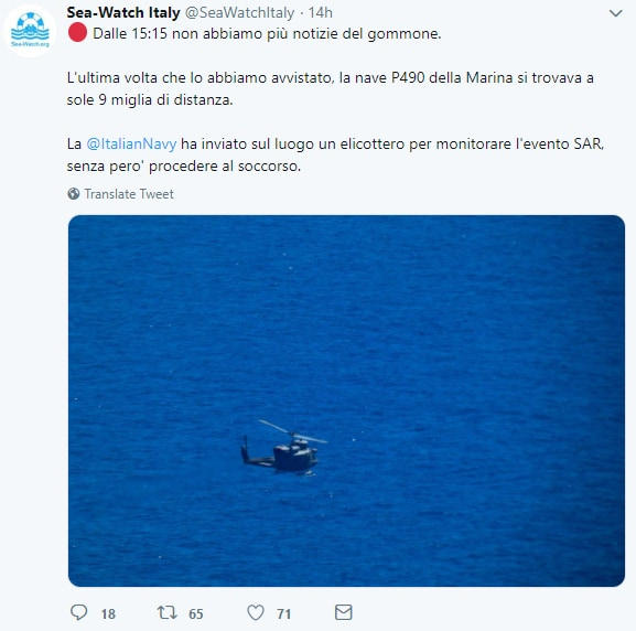 sea watch gommone bambina morta marina militare p490 -3