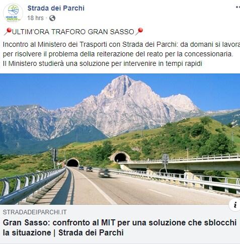 toninelli gran sasso tunnel autostrada dei parchi -3