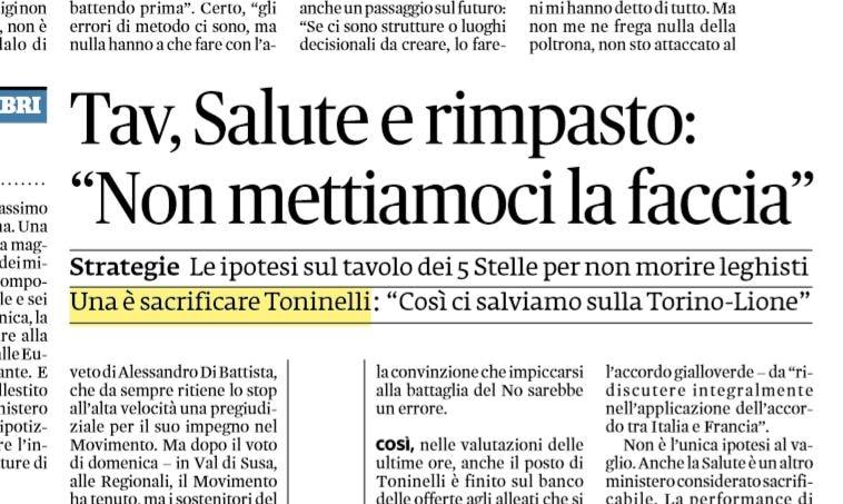 L'elogio di Salvini al sacrificabile Toninelli è il bacio della morte?