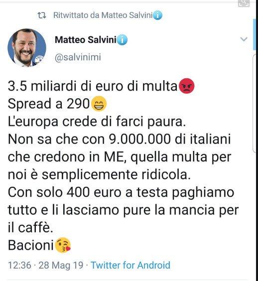tweet fake salvini