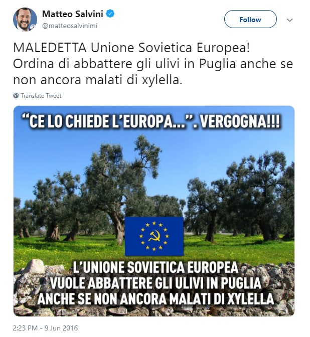xylella salvini unione sovietica europea - 1
