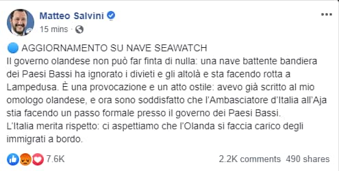 Carola Rackete sea watch insulti - 15