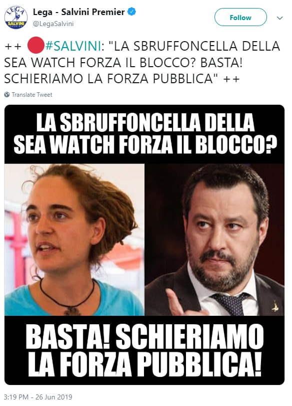 Carola Rackete sea watch salvini gogna - 2