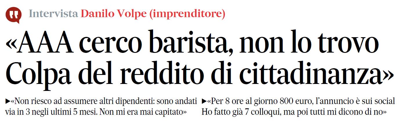 barista reddito cittadinanza napoli - 4