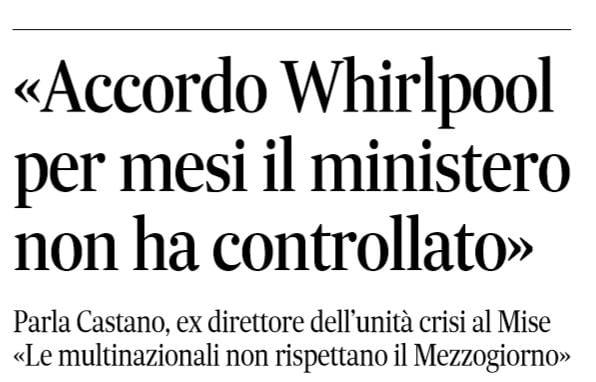 Whirlpool: 'Stato si farà rispettare'