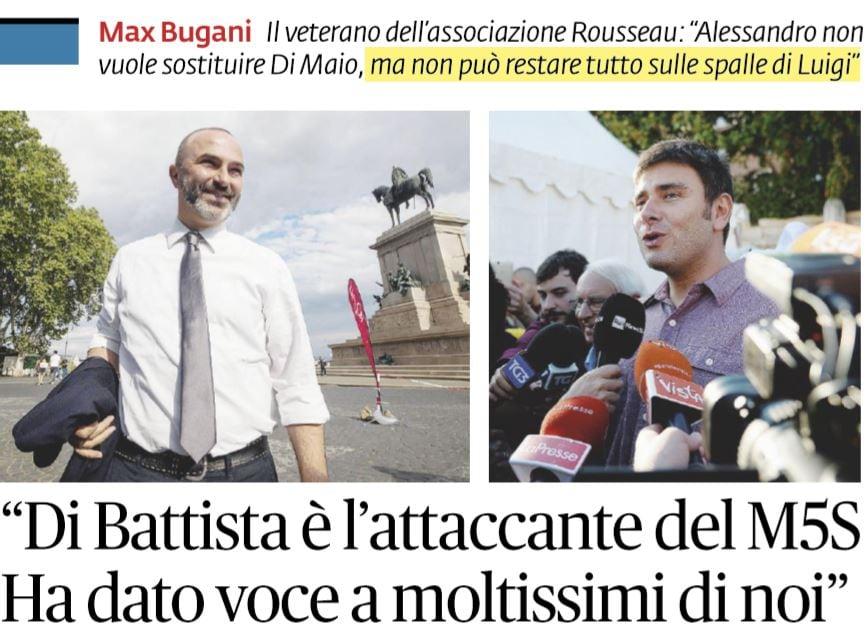 Max Bugani vota Di Battista leader del M5S