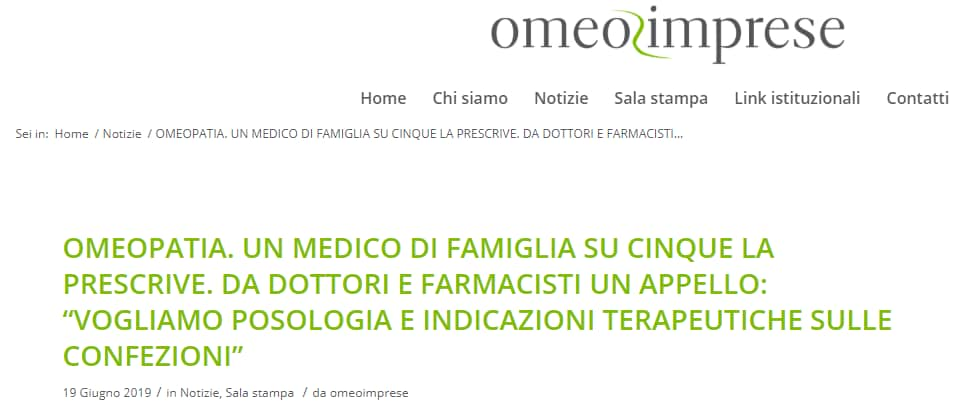 omeopatia omeoimprese sondaggio medici di famiglia - 2
