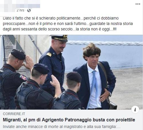 patronaggio minacce proiettile patridioti - 1