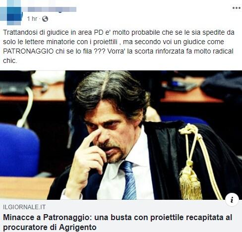 patronaggio minacce proiettile patridioti - 3