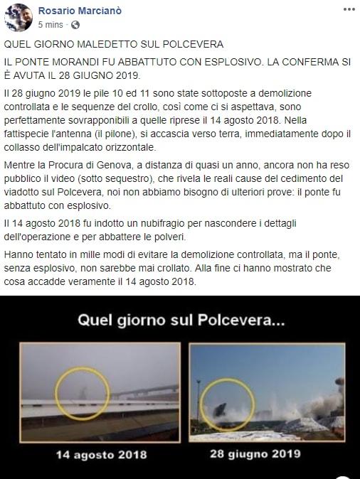 ponte morandi complotto esplosioni marcianò - 1