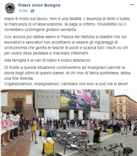 rider bologna mario incidente scooter - 1