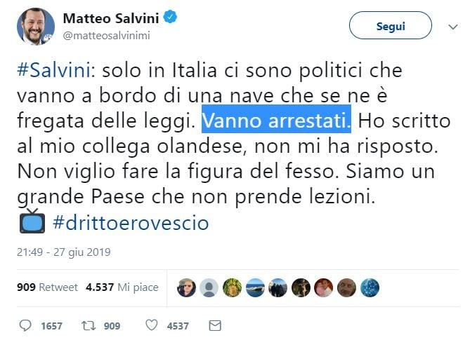 salvini parlamentari arrestati