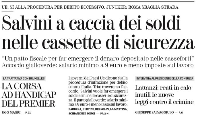 salvini patrimoniale cassette di sicurezza italiani 1