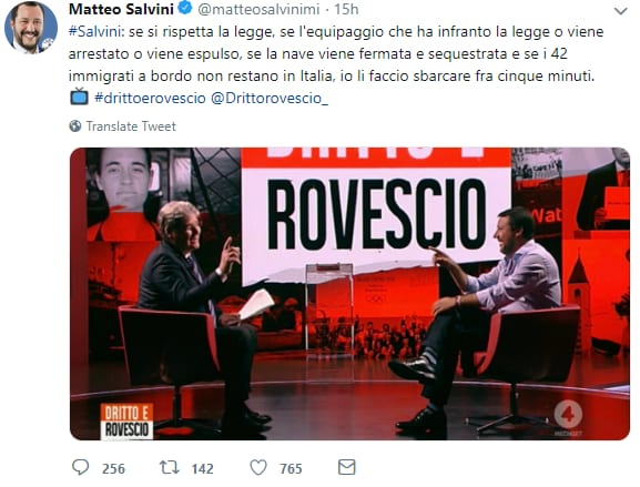 salvini sea watch carola rackete fesso - 4