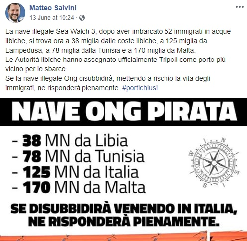 sea watch 3 olanda salvini carola rackete - 1