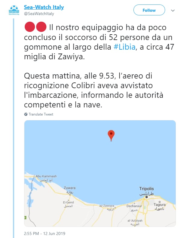 sea watch salvini libia scafisti - 1