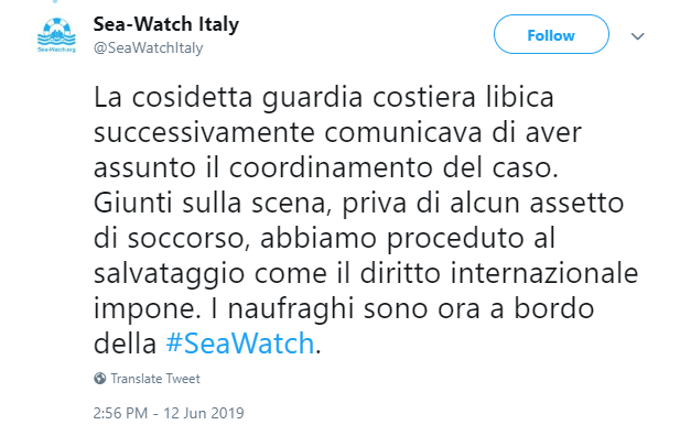 sea watch salvini libia scafisti - 2