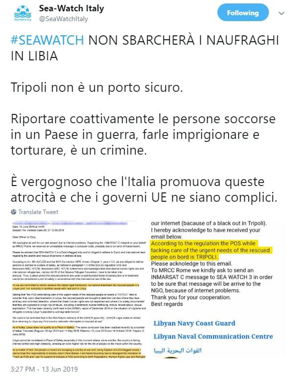 toninelli sea watch carola rackete lampedusa - 3