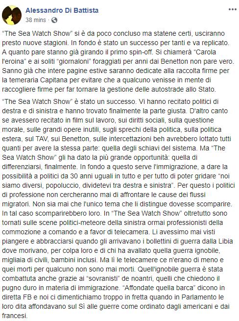 ALESSANDRO DI BATTISTA SEA WATCH BENETTON - 1