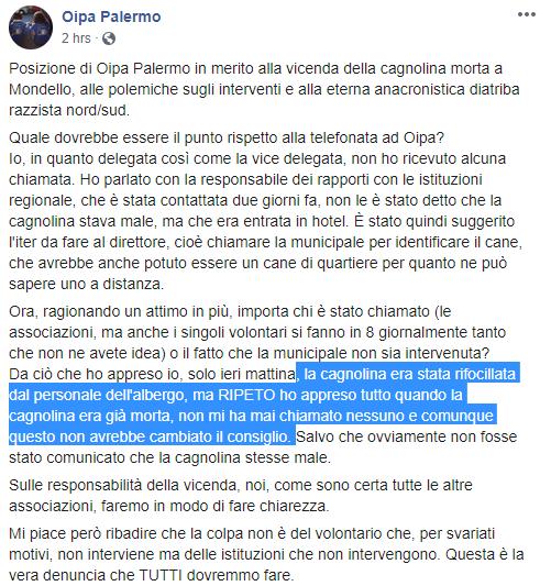 cagnolina morta mondello oipa - 1