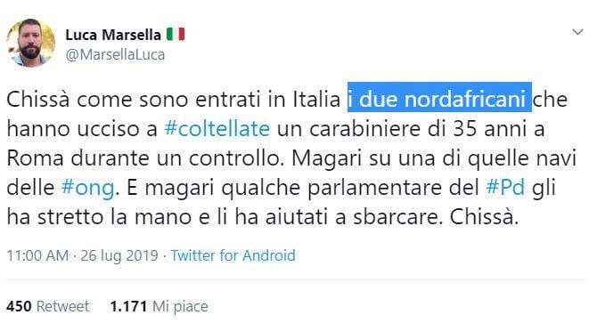 carabiniere ucciso casapound